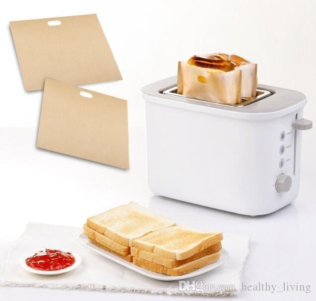 구운 치즈 샌드위치 손쉬운 재사용 붙지 구운 토스트 빵 가방 제빵 과자 도구 (452) (27)를위한 2 개 토스터 가방