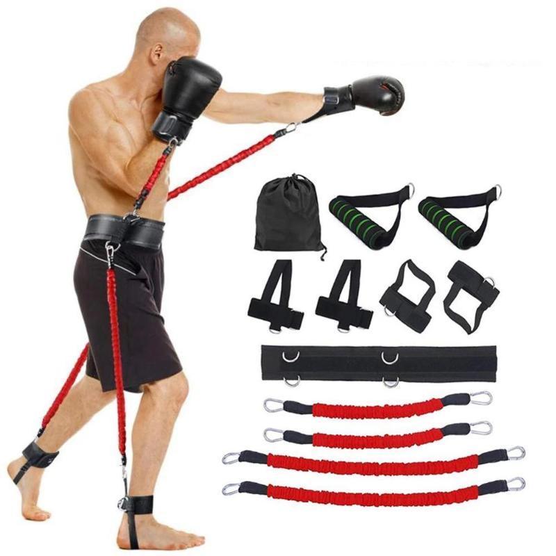 150LB rimbalzo Resistenza Trainer fune scossa Agile allenatore di pugilato di vita del piedino Bouncing strumento di formazione