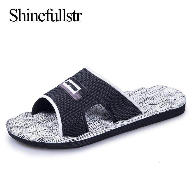 мужская моды тапочки горок для наружных пляжных летних MENS slipers плоской легкой мягких тапочек большого размера pantoufle потты 46 47