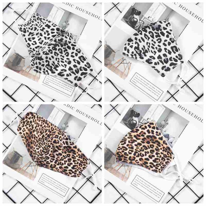 Moda stampa del leopardo della maschera di protezione per adulti antipolvere Maschere Maschere riutilizzabile lavabile Bocca Unisex Ciclismo Designer Mask CYZ2593 400PCS