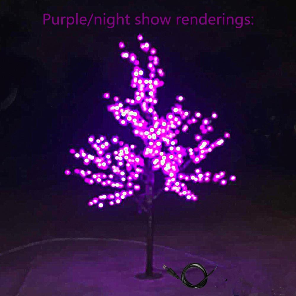 Natal LED árvore Luz 480 pcs lâmpadas LED 1,5 m Altura 110 / 220V / AC Rainproof Sete Cores para opção pode uso ao ar livre Gota