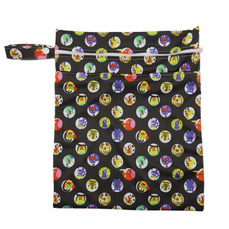 Детский двойная молния Storage подгузники S хранения моющихся пеленок мешок водонепроницаемого дезодоранта корзина пеленка мешок