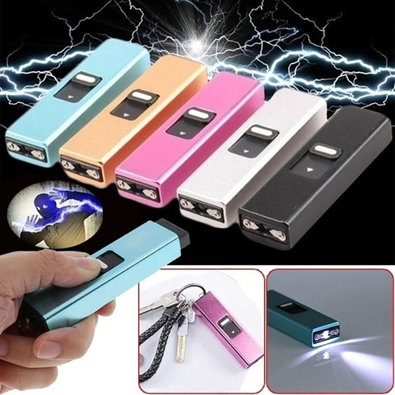 Mini Portable Electric Shocks Key Light Self Defense High Concealment Electric Shocker Protect Yourself