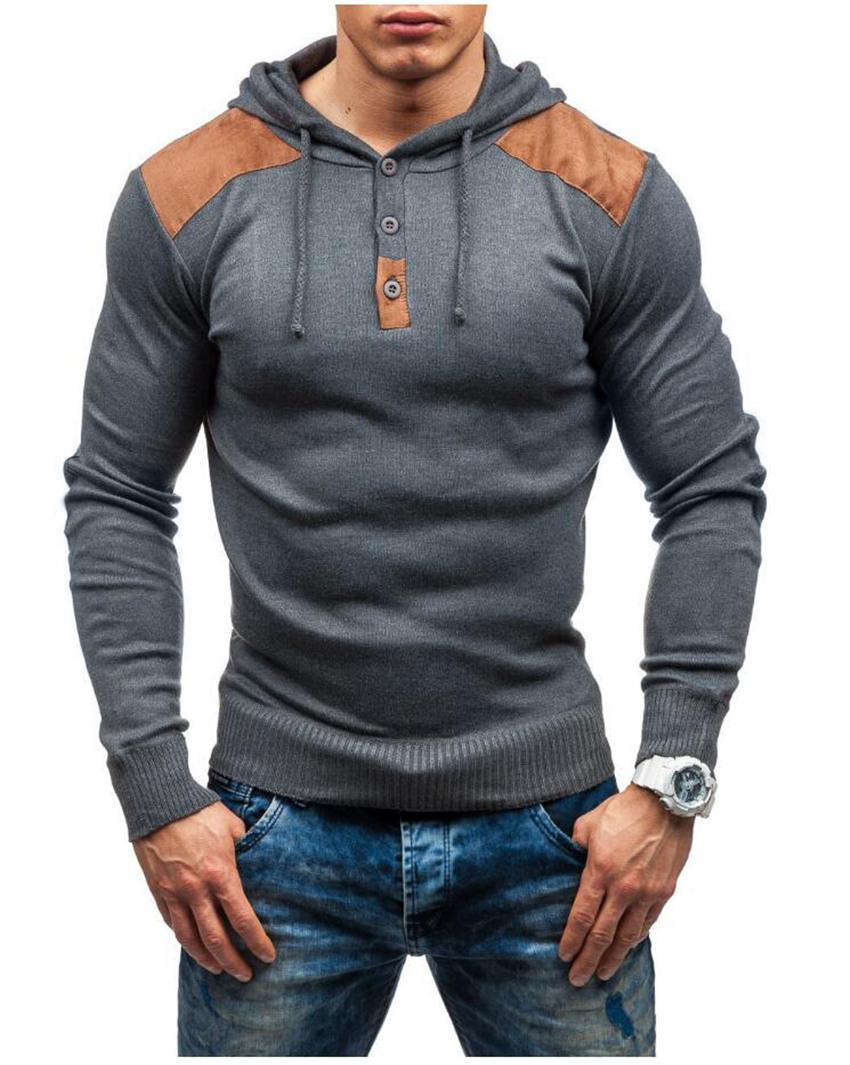 Designer Mens Hoodie Patchwork Long Sleeve Slim Hooded Sweatshirts Spring Autumn Casual Solid Color Sports Mens Clothes