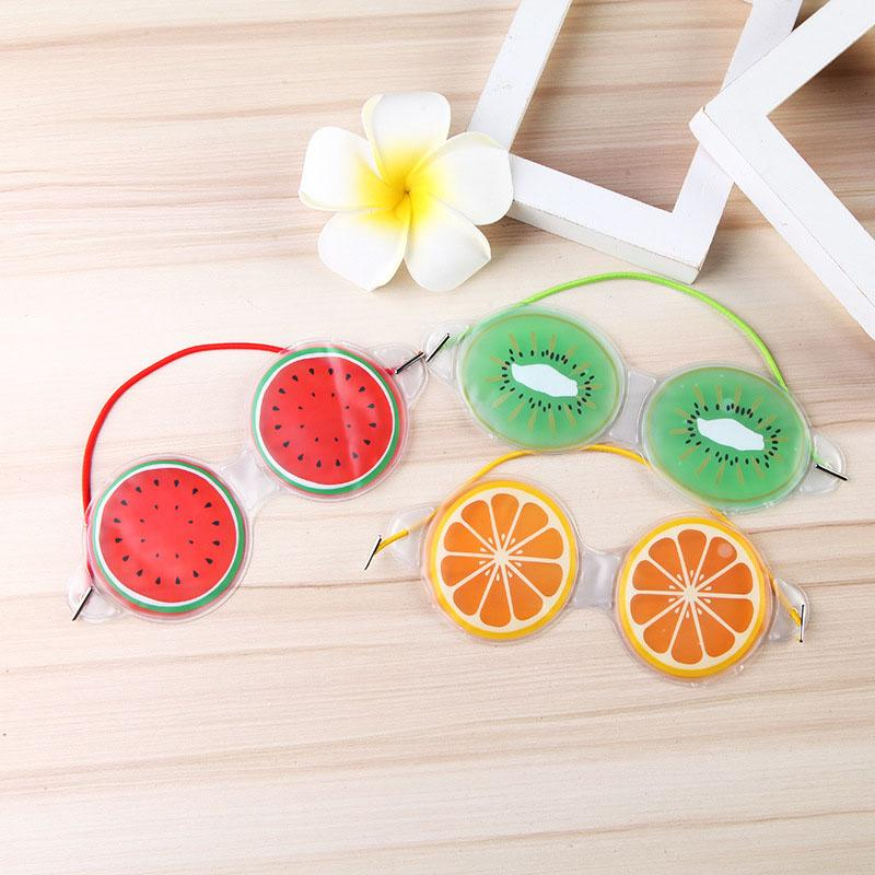 1PC Cute Fruit Ice Gel Eye Mask Cold Compress Fatigue Relief Remove Dark Circles Eye Bags Shield Relaxation Beauty Tools