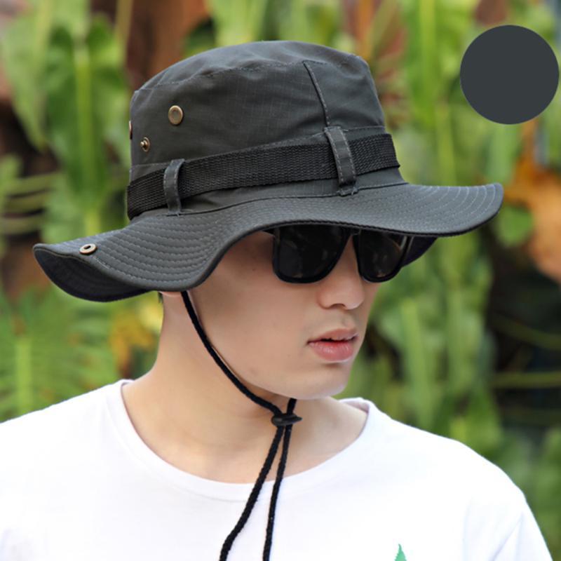 Cappello per il sole 1pcs Uomini Donne Bucket Hat Collo risvolto di copertina Tesa larga Pesca Giardino marciaCap