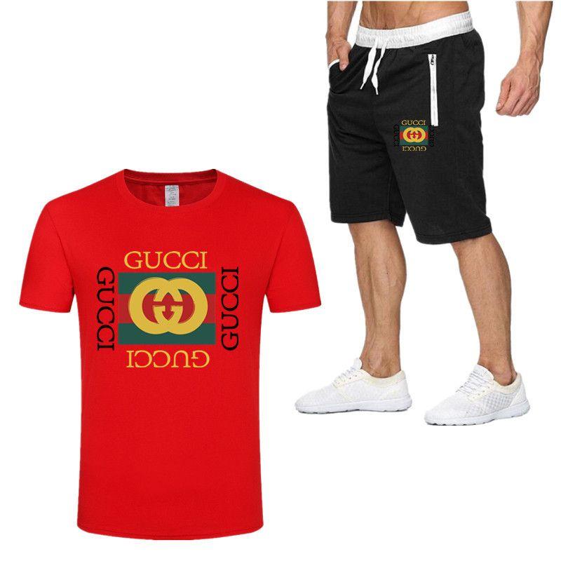 Men/'s Tops Bottoms Fitness Jogging Gym Tracksuit Set T Shirts Shorts Sports Suit