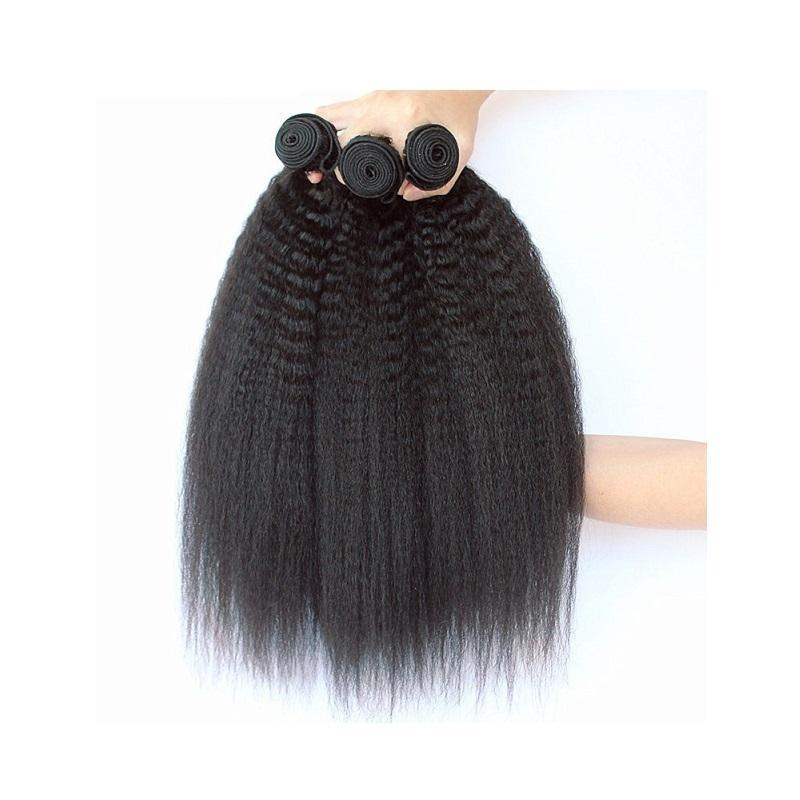 Peruvian kinky straight human hair bundles 3piece 300g lot unprocessed virgin remy human hair natural color full bundles weaves for one head