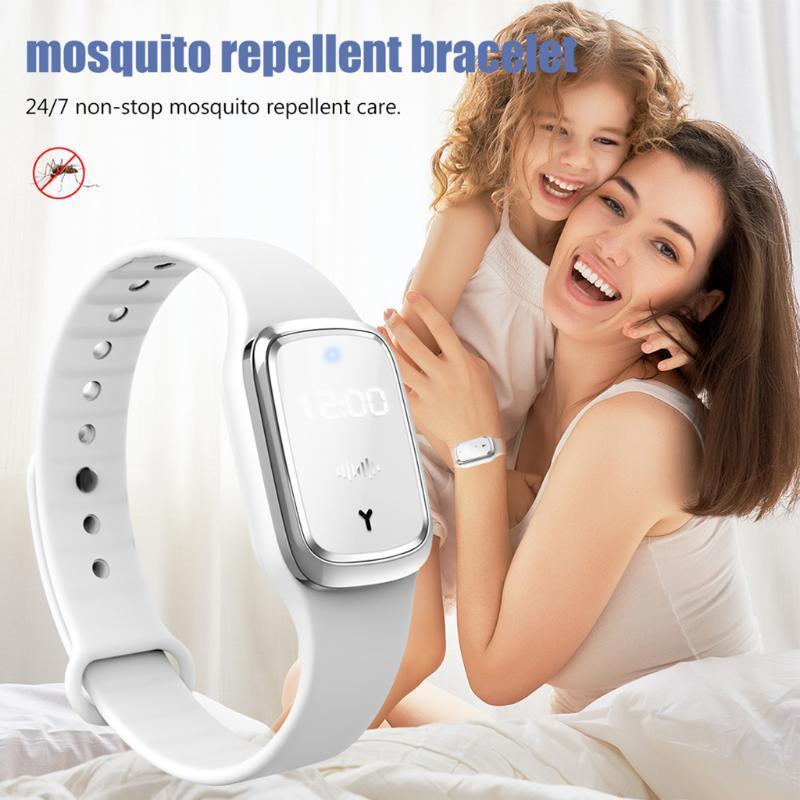 Çocuklar Ultrasonik Anti-Mosquito Bileklik için Açık Anti Mosquito Bilezik Bilek Bandı Ultrasonik Sivrisinek Kovucu Bileklik