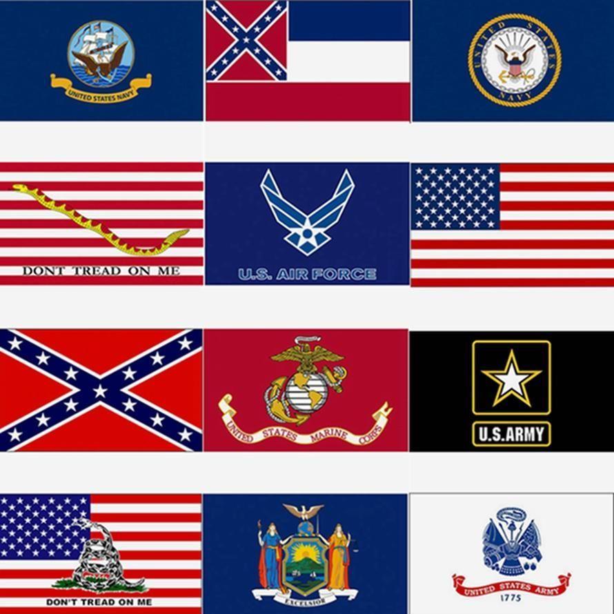 3x5ft USA Drapeau Mississippi State drapeau confédéré drapeaux 90 * 150cm US Army Bannière Airforce Marine Corp Marine Bannière DHC312