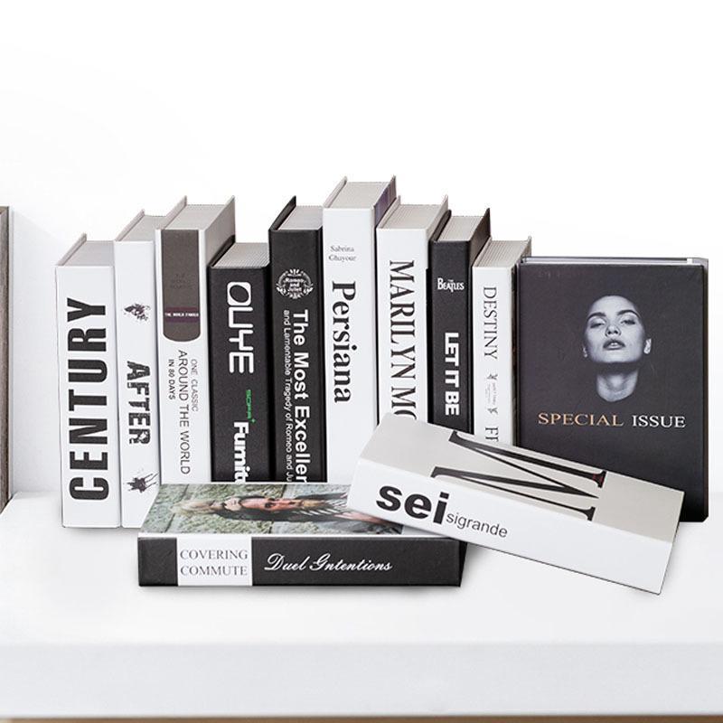 Avrupa Sahte Kitap Modeli Ev Dekorasyon Süsler Popüler Kitaplar Kapak Showvase Görüntü Ofis Çalışma Odası Dekorasyonu El Sanatları Hediyelik T200709