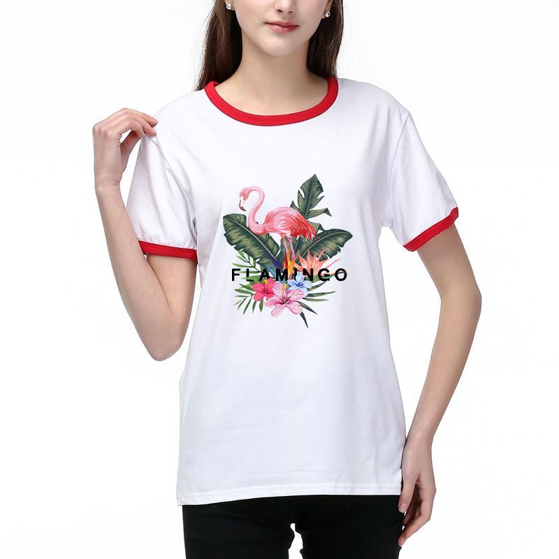2020 Kadın T Gömlek Yaz Moda Lady Tees Nefes Kısa Kollu Harf Çiçek Desen Baskılı Tişörtler Gömlek kısa T003A707 kollu Tops