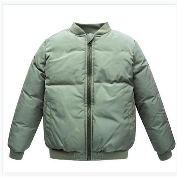 Children's jacket baseball uniform coat boy girl winter wear down cotton padded sportswear outerwear outdoor apparel