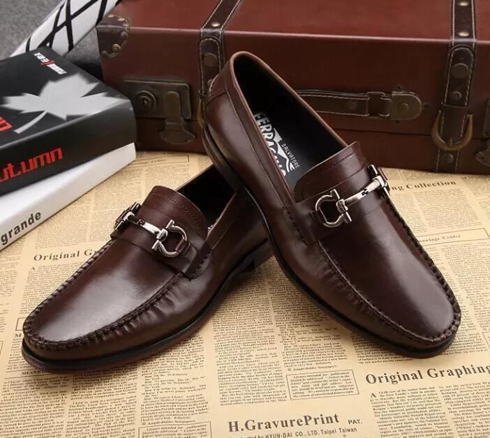 designer men genuine leather shoes luxury handmade loafers slip on italian brand fashion male dress shoesf012#