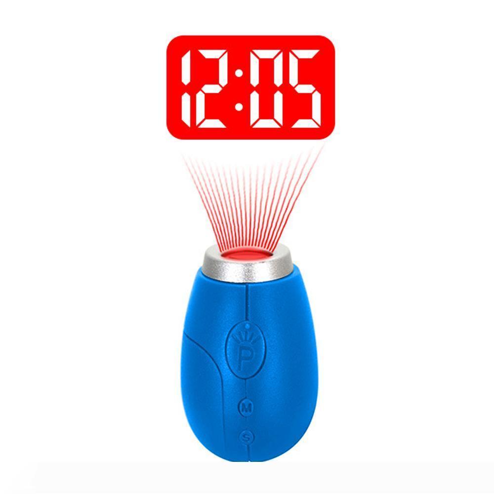 BRELONG 디지털 프로젝션 시계 열쇠 고리 미니 LCD 프로젝션 시계 나이트 라이트 매직 프로젝터 시계 레드 블루 블랙