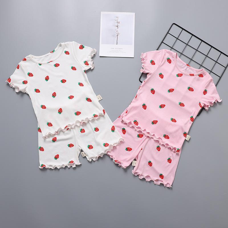 vestito a maniche corte per bambini estate sottile respirare pigiama modier bambino aria condizionata vestiti casa delle bambine
