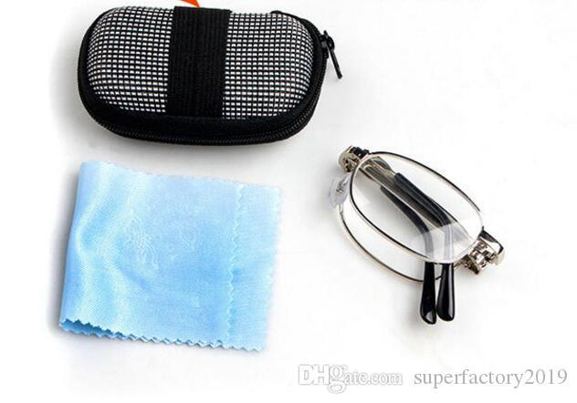 New Style Folding Reading Glasses Metal Reading Eyewear With EVA Case Convenience In Pocket Good Quality