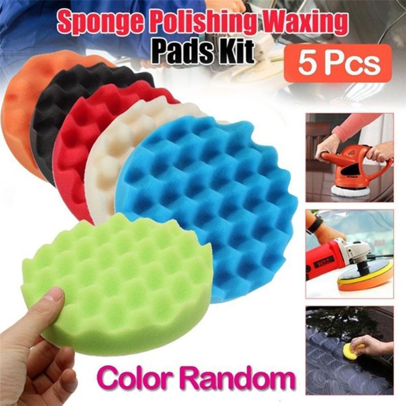 8PCS 3//4//5//6 inch Buffing Sponge Polishing Pad Kit Waxing for Car Polisher Tools