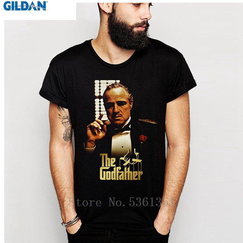 Tamanho camisa T retro filme impressionante The Godfather Vito Corleone gráfico Crewneck T Shirt Cotton S-6XL Além disso,