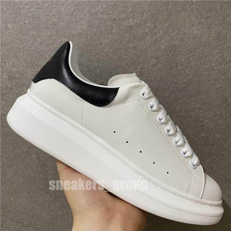 2020 Top qualité Hommes Femmes Noir Velet Plate-forme Chaussures de sport Baskets en cuir blanc véritable confort jolie fille en gros style Chaussures Casual