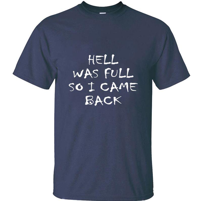 Personnaliser du bâtiment L'enfer était plein, donc je suis revenu des hommes tee shirt science et les femmes tenue t-shirts col rond hommes graphique HipHop