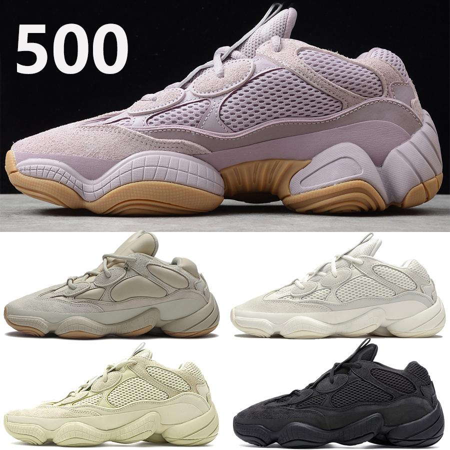 kanye west 500 mens running shoes soft vision stone bone white utility black super moon yellow reflective men women outdoor sneakers
