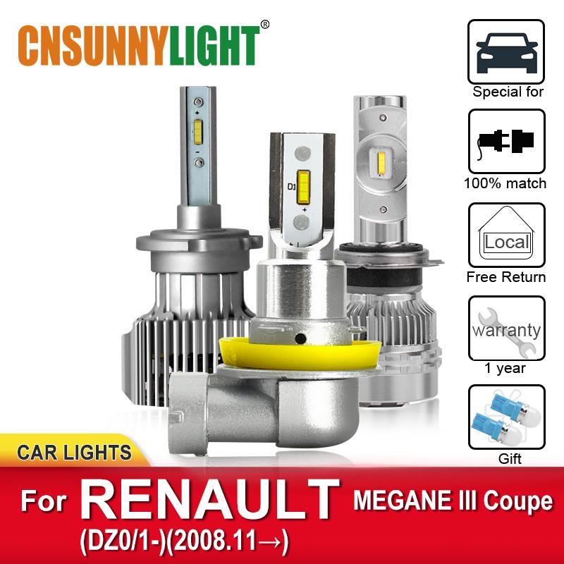 2008 FogLamp Ampüller Far Otomobil lambalar itibaren CNSUNNYLIGHT Canbus LED Araç Far Ampüller için MEGANE III Coupe DZ0 / 1