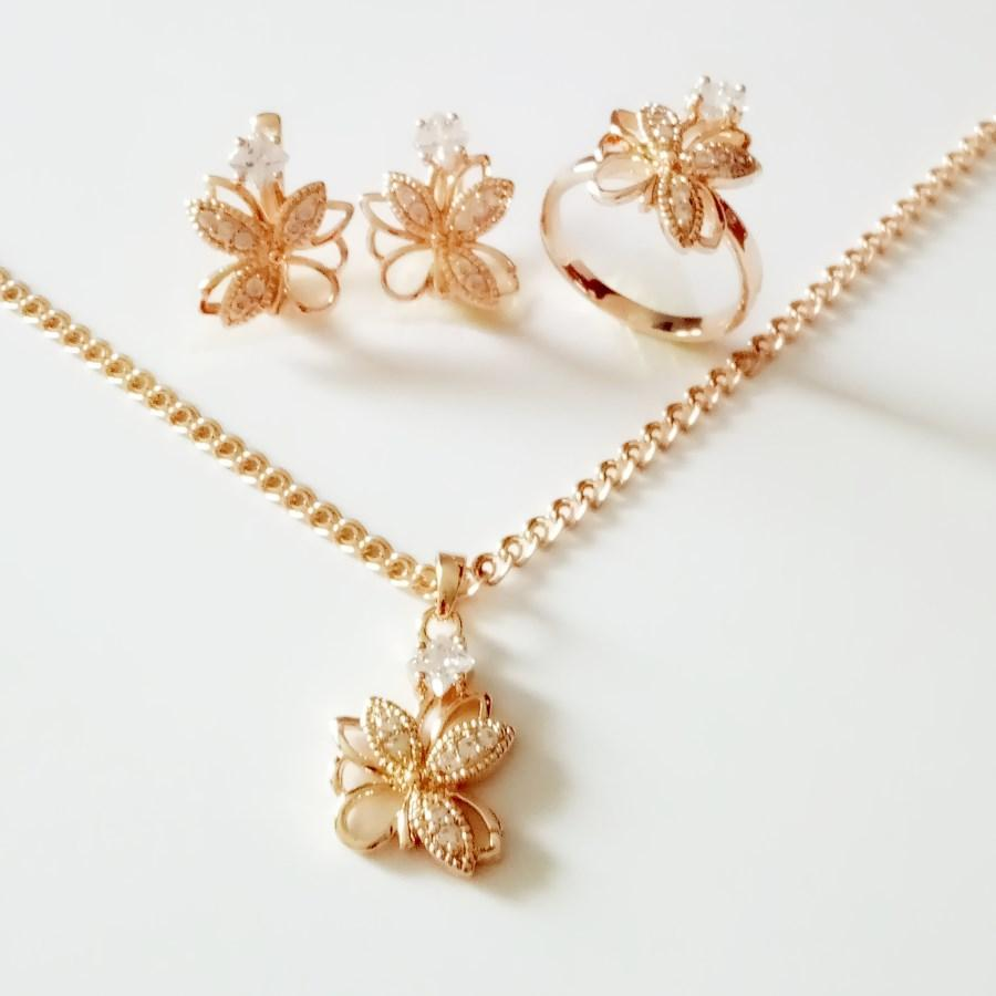 2021 New Gold Jewelry Set Fashion Wedding Jewelry Exquisite Flower Design Rose Gold Earring Ring Necklace Jewelry Sets From Goingstyle 42 77 Dhgate Com