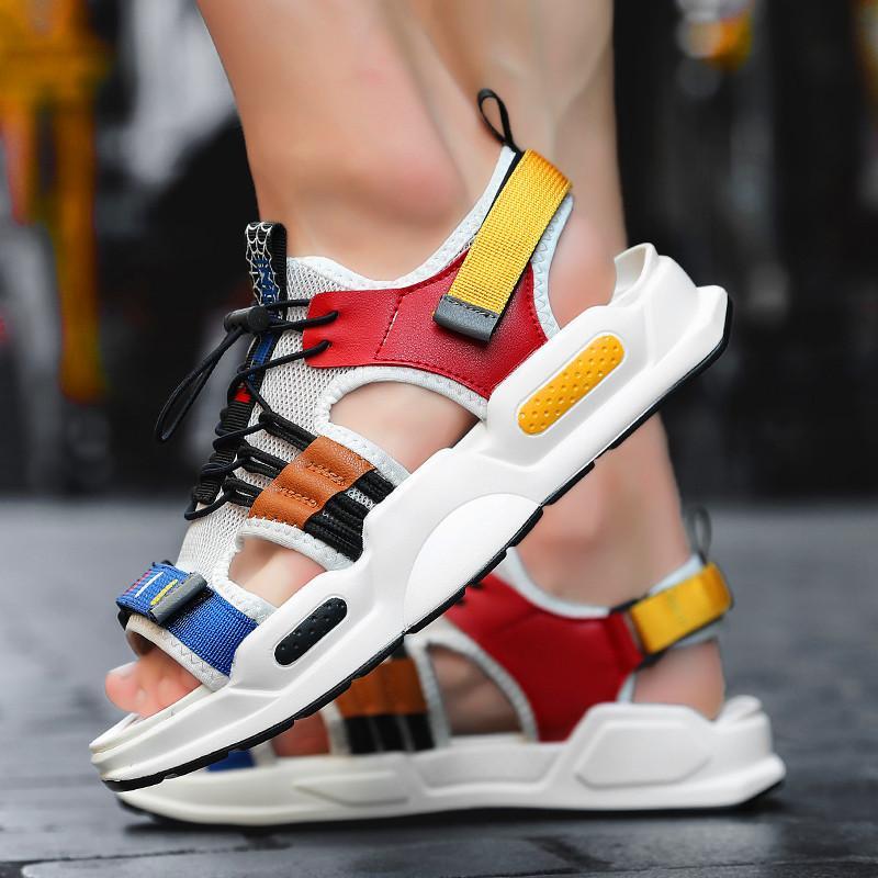 أحذية رجالية عادية مش العلامة التجارية ربط الحذاء حتى أحذية رياضية رجالي Sapato ذكر للKrasovki خفيفة الوزن اسلوب جديد شاطئ عدم الانزلاق الرجال الصنادل