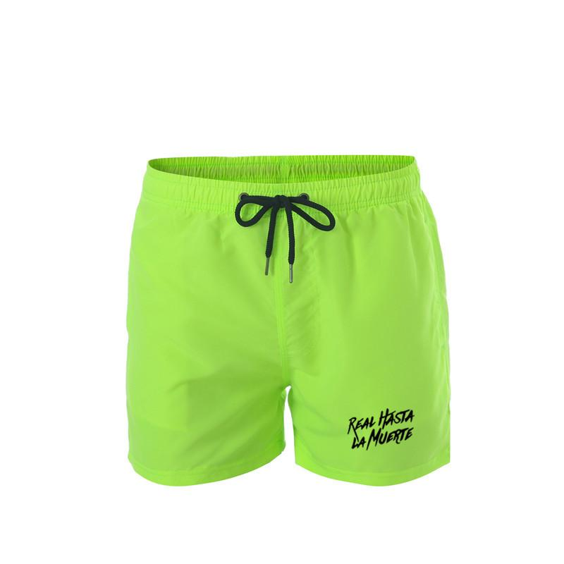 Real Hasta La Muerte Männer Board Shorts Sommer-Strand-Surf-Hosen, schnelltrocknende Badebekleidung männlich Badeshorts mit Liner-Schwimmen-Stamm