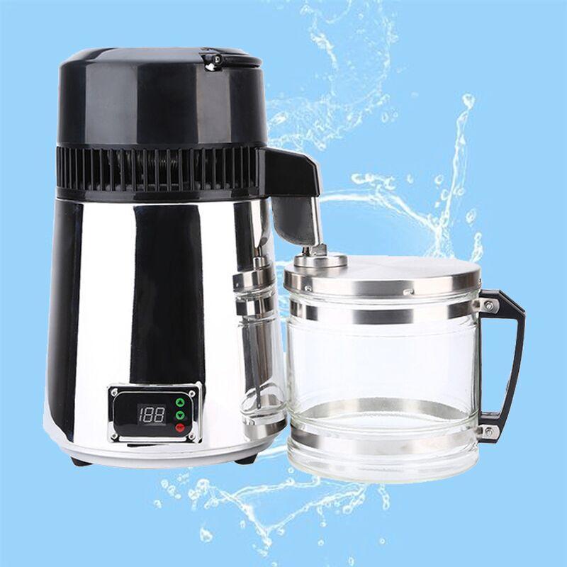 Destilación de control de agua de acero inoxidable Distillers encimera 4L 750W digital de la máquina de agua para el hogar con la manija
