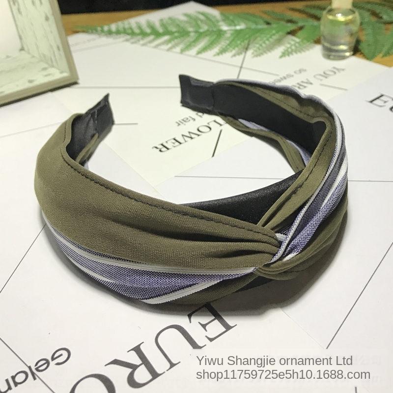 stile coreano vgNmJ accessori coreano headdresscontrast tessuto a righe capelli headdressHeaddress colore dei capelli nodo bordo centrale hairba 8ymtf