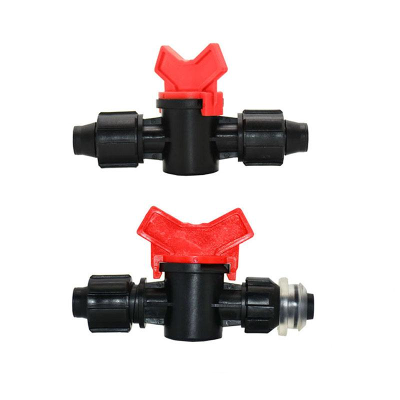 16mm drip tape hose tap water valve connector lock nut 2-way hose repair garden tap Greenhouse for irrigation 15Pcs