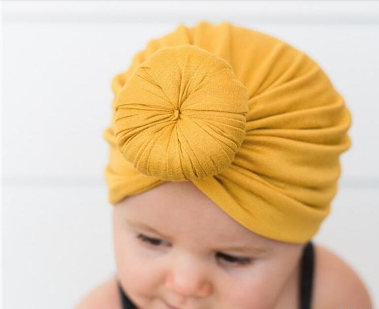 Новые детские шапки шапки с аксессуарами узел декора дети девочки волосы тюрбан узел Глава Обертывания Дети Дети Зима Beanie