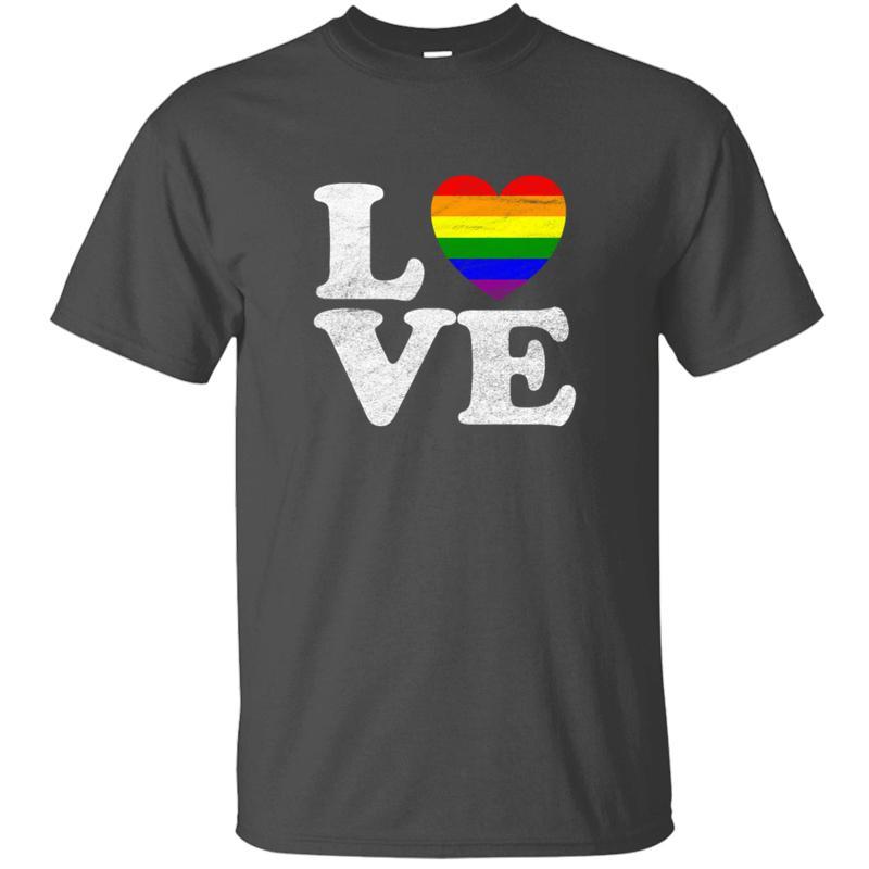 Lgbt Orgoglio arcobaleno cuore di amore del T shirt Nuovo arrivo in cotone famosi vestiti Fumetti Uomo T-shirt più il formato S-5XL Top Tee