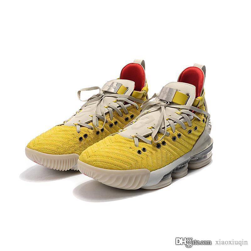 Womens lebron 16 tênis de basquete x HFR Yellow White Lion Lakers Oreo BHM juventude caçoa LeBrons james 16s sneakers tênis com o tamanho da caixa 5 12