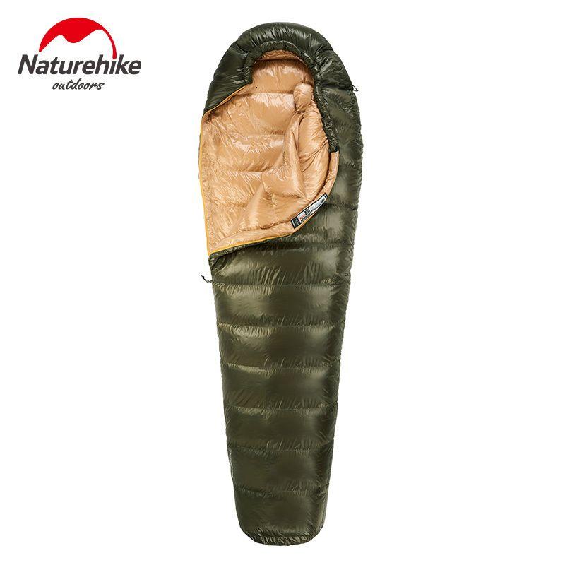 Naturehike extérieur duvet de canard chaud Sac de couchage Ultralight Momie type d'hiver randonnée en plein air chaud Garder le sac couchage imperméable