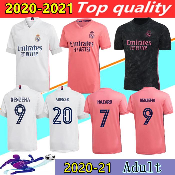 2020 2021 REAL MADRID soccer jerseys 20/21 HAZARD SERGIO RAMOS BENZEMA VINICIUS MODRIC BALE EA sports spcamiseta football shirts uniforms