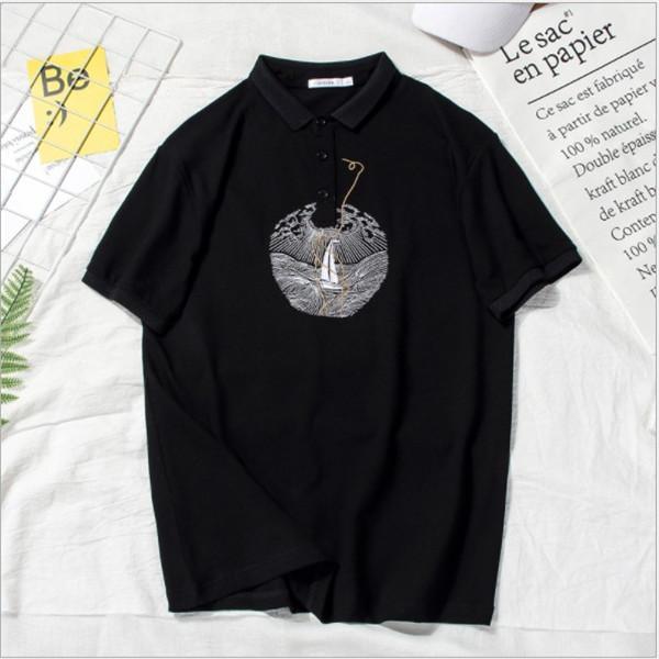 T-shirt di alta qualità casual t-shirt Fashion Designer Polo uomini di estate di marca degli uomini Polo corta Maglietta a maniche Top Splendidamente Embroid