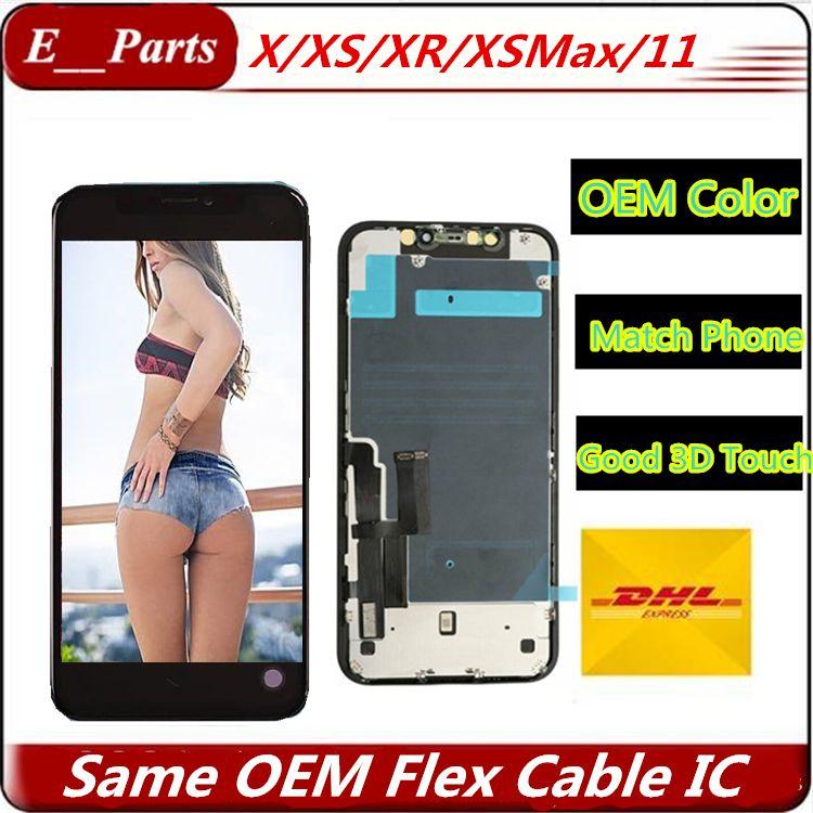 Incell LCD für iPhone 11 X XS XR XS Max LCD-Anzeigen-Noten-Digitizer Assembly Ersatz Ersatzteile Freier DHL