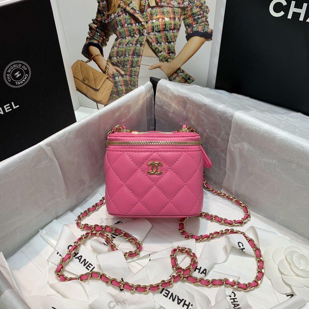 7A sac de maquillage dames classiques sur mesure haut de gamme de qualité mini-chaîne classique top cool tout à fait! La capacité est ok