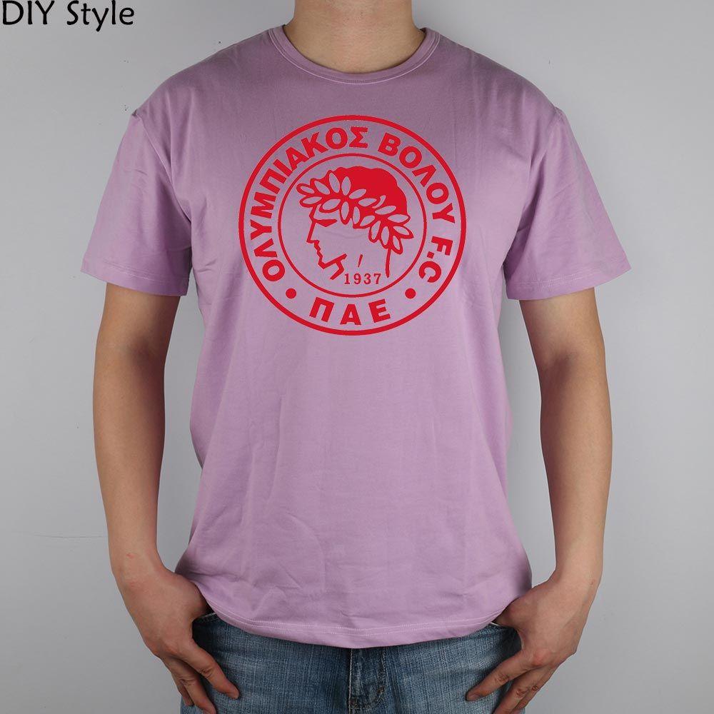 OLYMPIAKOS VOLOU 1937 T-shirt Top Lycra Cotton Men T shirt New Design High Quality Digital Inkjet Printing