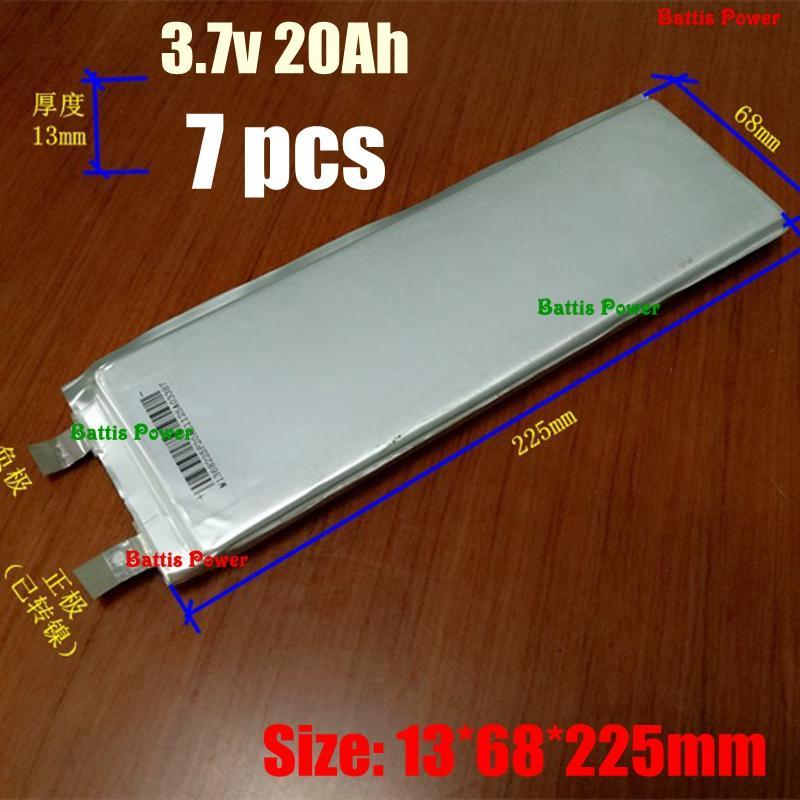 10pcs Leistungsstarke 3.7V 22Ah Lithium-Polymer-Akku 20Ah li po Bateria für DIY 36V 48V 72V 20AH Elektro-Motorroller Tricycle UPS