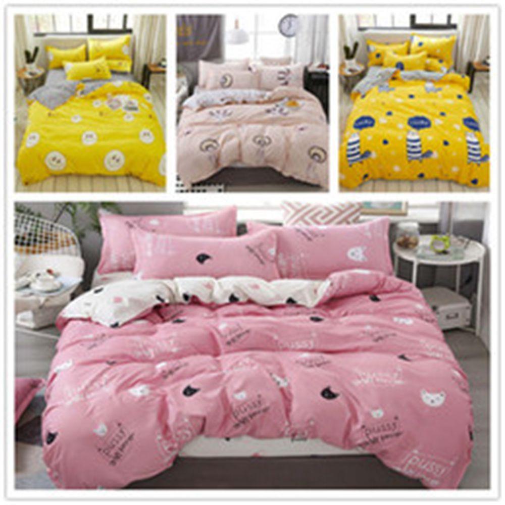 Hot Verkauf Anpassbare Bettwäsche Single Double King Size mit schöner Farbe Bettbezug Set 2 / 3pcs für ein Kind von zu Hause Bettwäsche
