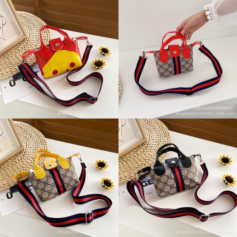 Lolita Mädchen-Handtaschen-Kind-Schulter-Beutel-Kind-Mappen Geldbörse Kawaii Herz-Bogen-Süßigkeit-Farben-Leder-Baby Kleine Crossbody-Tasche # 368