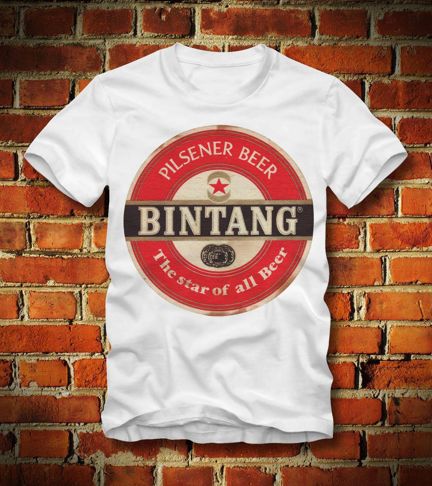 T-SHIRT Bintang PILSENER INDONÉSIE JAKARTA NATIONAL RETRO LOOKCool fierté Casual Mode unisexe t-shirt Livraison gratuite