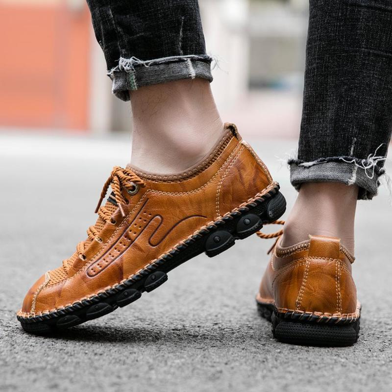 beiläufige casuales beiläufige 2020 Frühling zapatos mens männlich heiße Sportmens-Sport-Leder zapatillas hombre Verkauf schwarz Mode kausalen