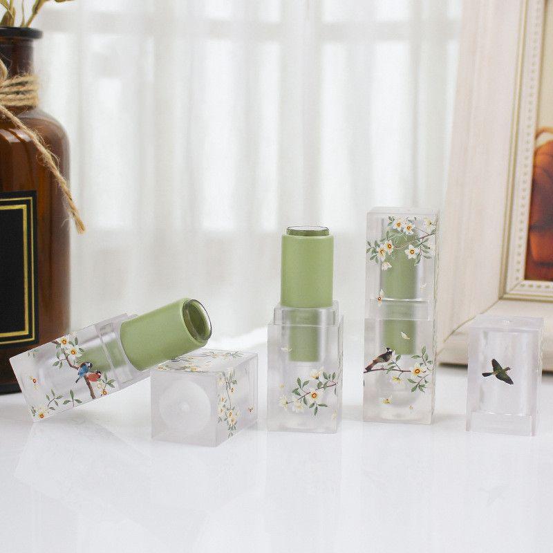 3,5 мл небольшой свежий Scrub площади губная помада пробки Empty Lip Контейнер для губ трубы DIY С Sample пакет бутылки макияж инструмент