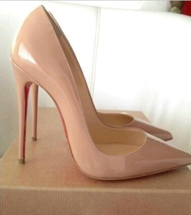 Moda Diseñador de lujo Mujer zapatos tacones altos Tacones Red Bottom So Kate Style 8cm 10 cm 12 cm Redondo punteras puntas Bombas Bombas de fondo zapatillas de deporte