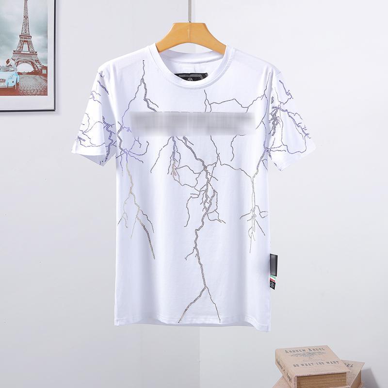 erkek tasarımcı t shirt Mens Kafatası tişört Yüksek Kalite baskı t shirt Tees kadın tasarımcı spor ayakkabısı Phillip düz Phillip Düz PP yy102